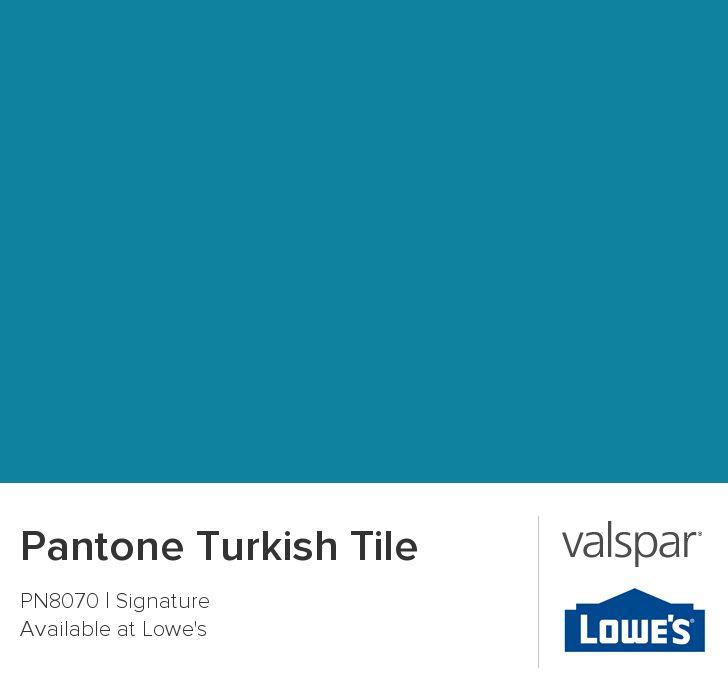 Pantone Turkish Tile From Valspar Touch Blue Paint