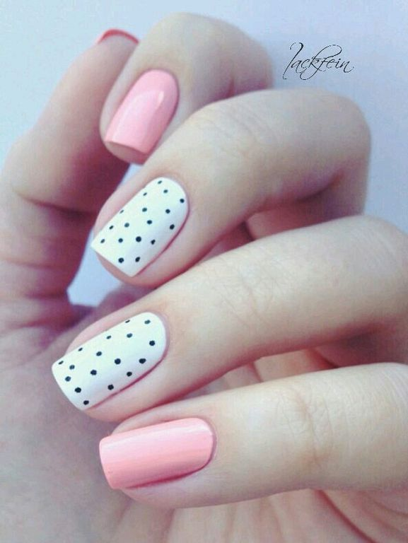 22 Cute Polka Dots Nail Art Designs You Must Try