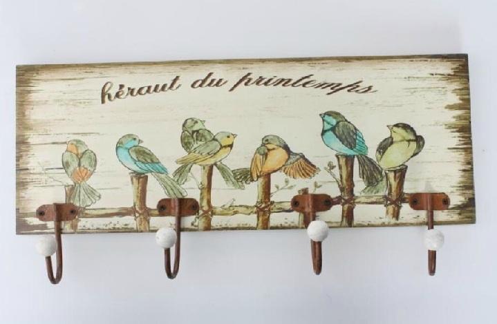 Colgador de pared de madera, vintage
