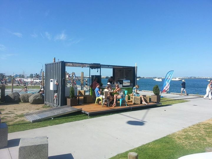 Coffee shipping container in Tauranga, Nz.