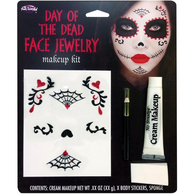 Day Of Dead Face Jewelry M-u K