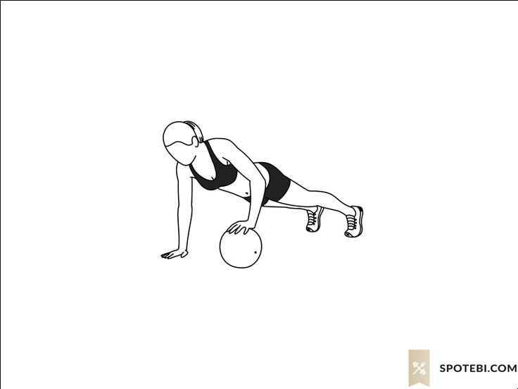 Alternating medicine ball push up exercise guide with instructions, demonstration, calories burned and muscles worked. Learn proper form, discover all health benefits and choose a workout. http://www.spotebi.com/exercise-guide/alternating-medicine-ball-push-up/