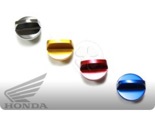 Honda Oil Cap $9.95 If you lost or broke your OEM Oil Filler Cap and want a stylish alternative with original spec fitment, we have your solution. Our replacement crankcase plug is constructed out of CNC Billet Aluminum and includes a new Rubber O'ring.