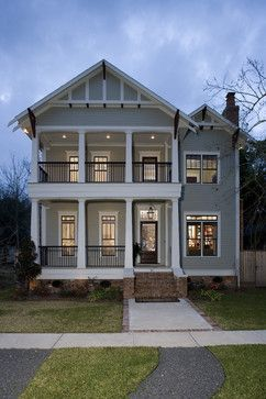 Craftsman style house facades