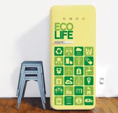 Vinilo decorativo para los más sostenibles #eco #nevera #myvinilo #deco #green #fridge #ecolife #vinilo #ecofriendly