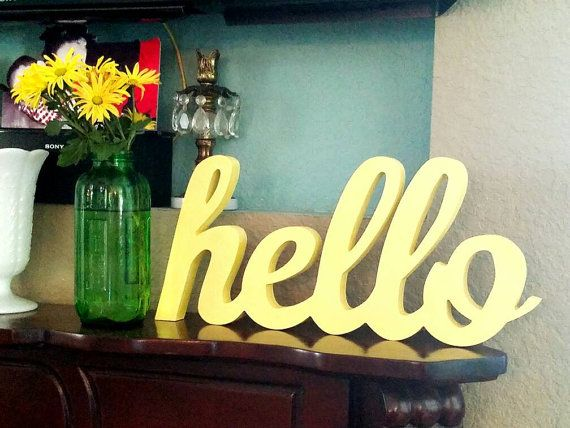 Best 17 3d cursive wood signs ideas on Pinterest | Galvanized metal ...