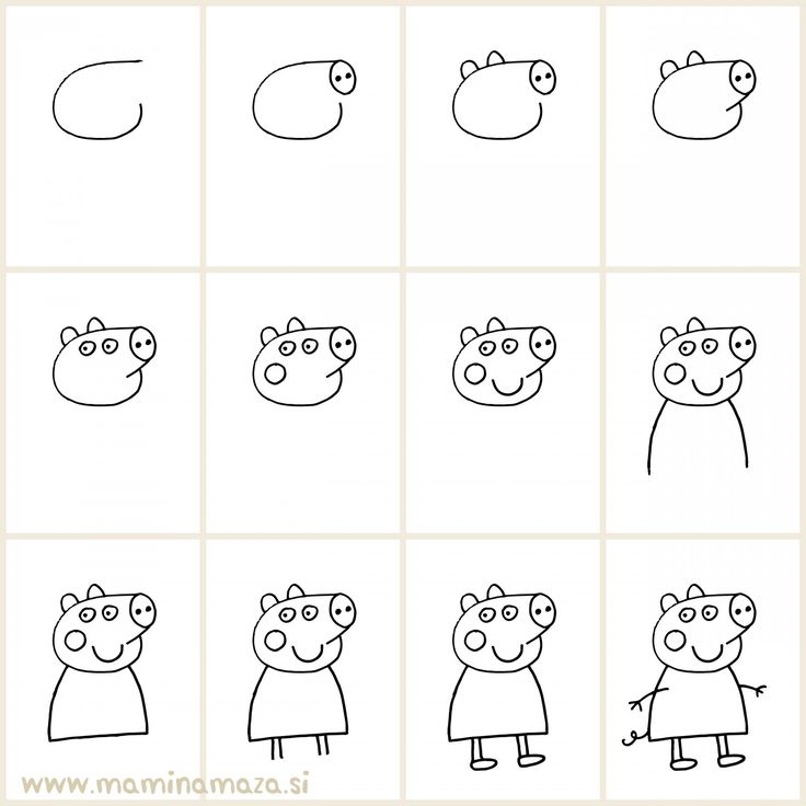 Kako narisati Pujso Pepo // Easy way to draw Peppa Pig and impress your kids :)