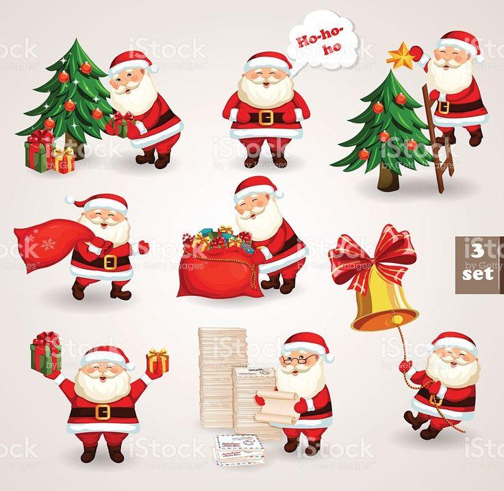 Santa cláusula indo para festa de Natal vetor e ilustração royalty-free royalty-free