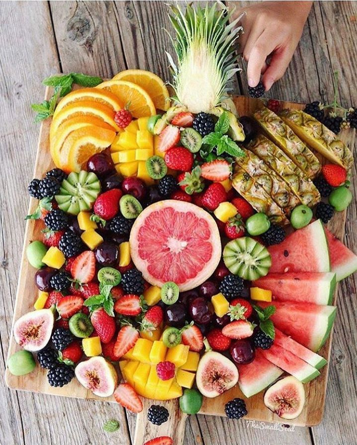 healthy fruit sorbet fruit tray
