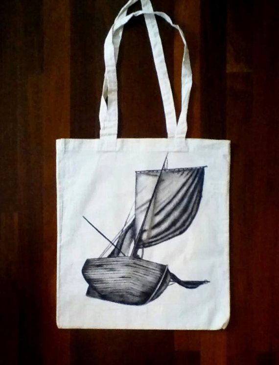 canvas tote bag tote bag nautical tote sailing bag