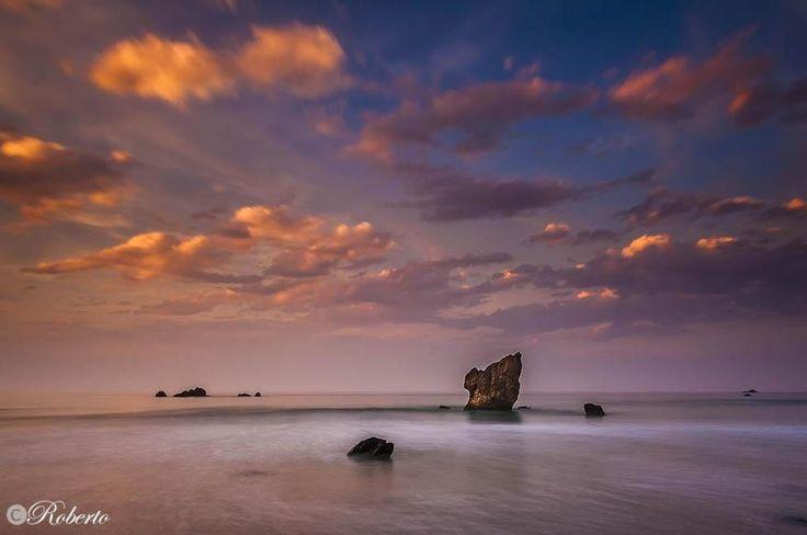 Atardecer en Playa de Aguilar
