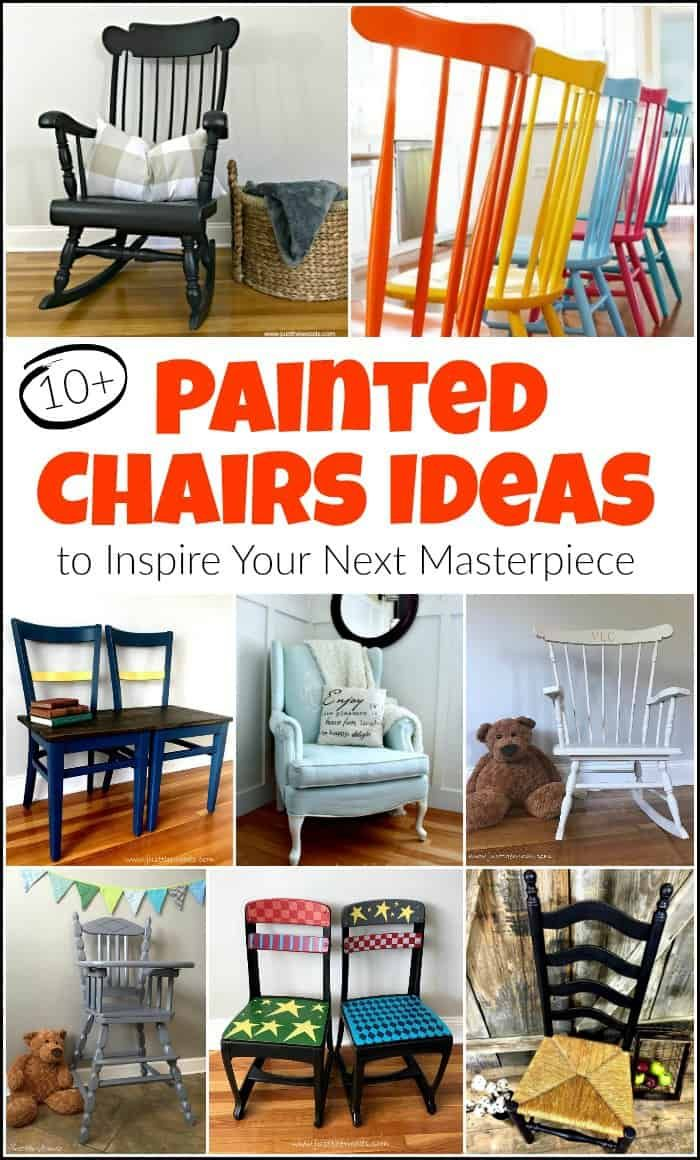 Painted Chairs Are An Awesome Way To Update A Space Painted Wooden Chairs Have Their Own Kind Of Uniqu Painted Chairs Diy Painted Chairs Painted Wooden Chairs