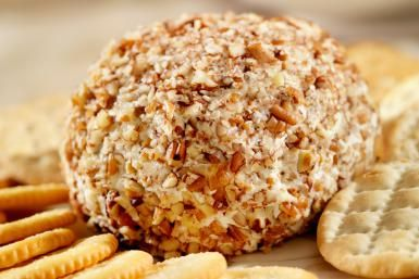 Celebration Cheese Ball with Garlic and Pecans: Cheese Ball with Pecan Coating