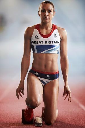 Jessica Ennis 5ft 5in Track & Field athlete 100M Hurdles Team GB