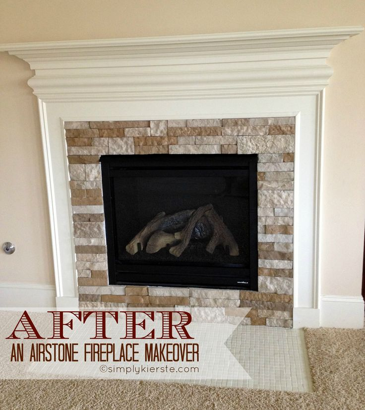 Interior Stone Wall Fireplace Prefab Fieldstone Fireplaces: Fireplace Makeover Using Airstone