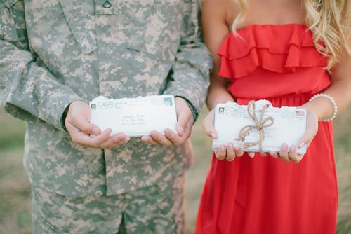 I would love to take this picture with the Boot Camp Letters I received and the letters he got from me! :-)