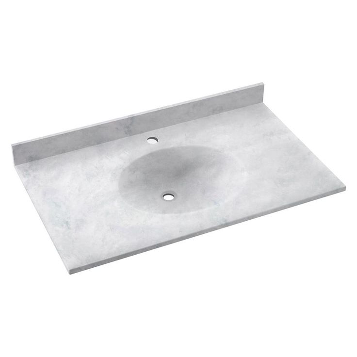 Swan Ellipse 31 in. Solid Surface Vanity Top with Basin in Ice - VT02231.130 - The Home Depot