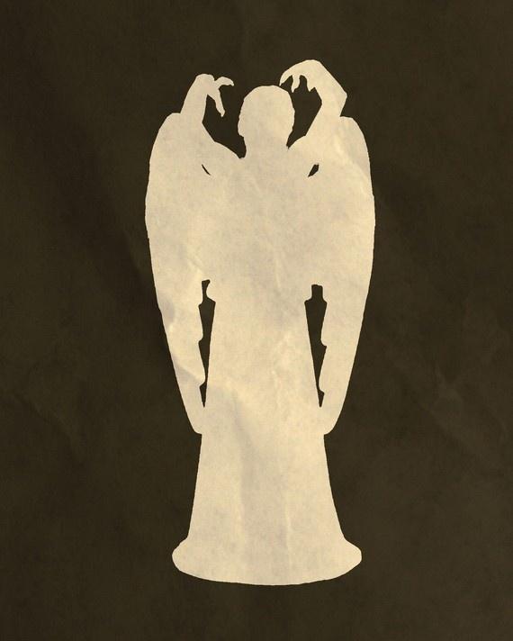 Weeping angel silhouette.