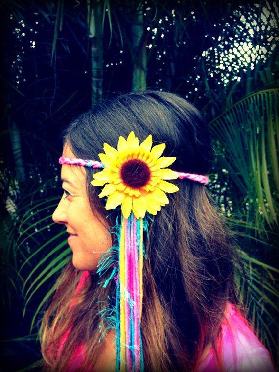 EDC Flower Headbands by GypsyHalos on Etsy, $22.00
