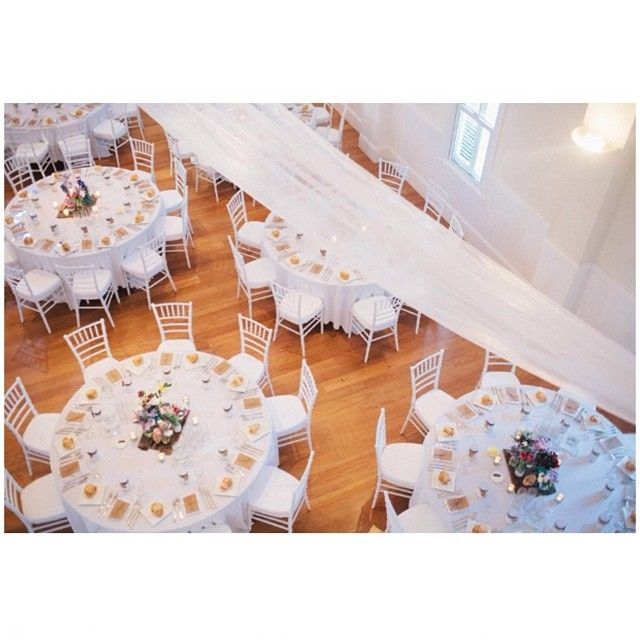 Sally Bay, wedding reception, styling, white, tiffany chairs, draping, floral, rustic glam, fresh