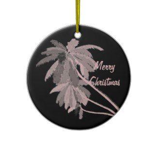 Pink Palms Christmas Ornament