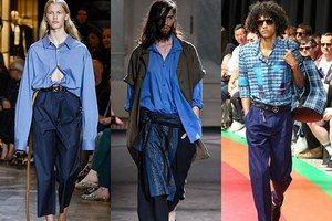 """2017年春夏は""""ブルー""""に注目!パリ・ミラノのメンズブランドで見るシャツやアウターの着こなし"""