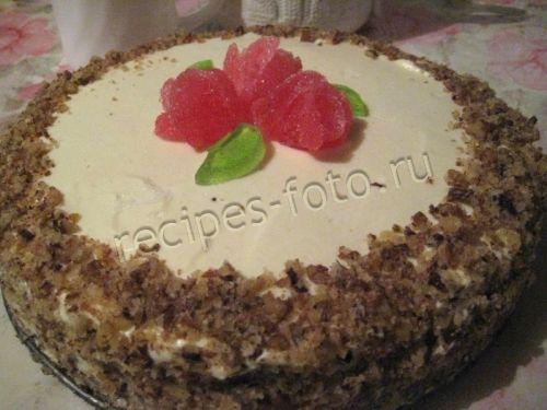 Торт «Зебра» на кефире с кремом