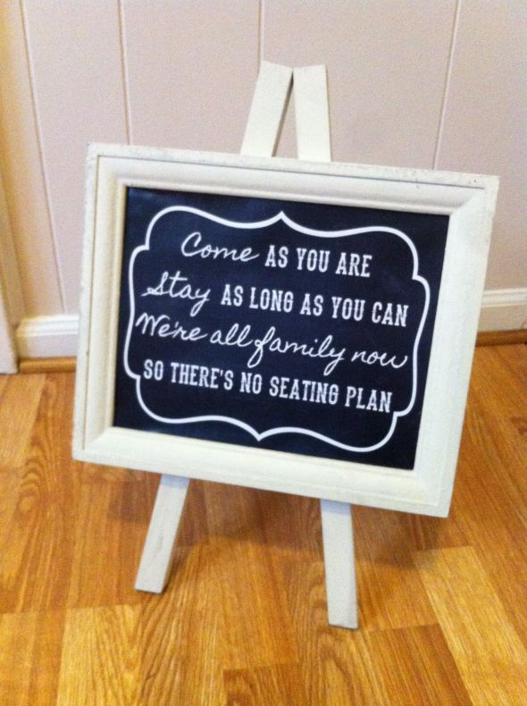 No Seating Plan Sign Found on Weddingbee.com  Share your inspiration today!