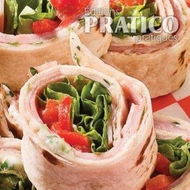 Tortillas au jambon et poivrons grillés - Recettes - Cuisine et nutrition - Pratico Pratique