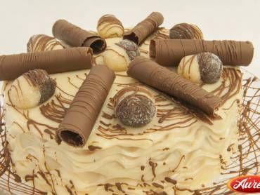 Faça a receita de Torta Dois Amores - Áurea e surpreenda-se! Com certeza vai ser um sucesso na sua casa e receberá muitos elogios! Torta Dois Amores - Áure