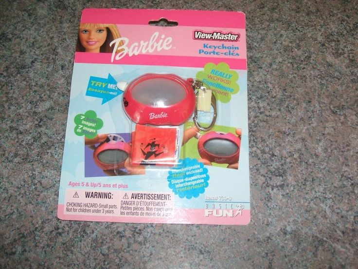 2000 BARBIE on View-Master Keychain REALLY WORKS! 7 prom images on reel NIP #MiniVIEWMASTER