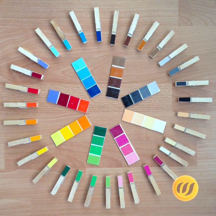 Montessori Farbe, Farbkarten Und