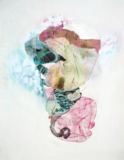 Ma découverte du jour : Ingrid van der Zalm. Cette jeune designer textile néerlandaise mélange les impressions comme personne. Impression numérique, sérigraphie, broderie se superposent pour créer …
