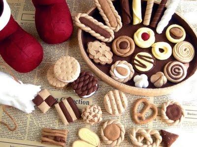 Assortiment koekjes van vilt - Biscotti feltro