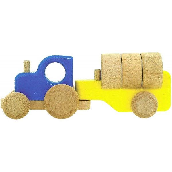 Kolejne nowości od Bajo już u nas. Bajo 43110 - Drewniany Traktor z Klockami wykonany z ekologicznego drewna dla dzieci od 18 miesięcy. Zabawka rozwija wyobraźnię, uczy koordynacji ruchów oraz pomaga w nauce kolorów. Zobacz w jakich kolorach jest dostępna:)