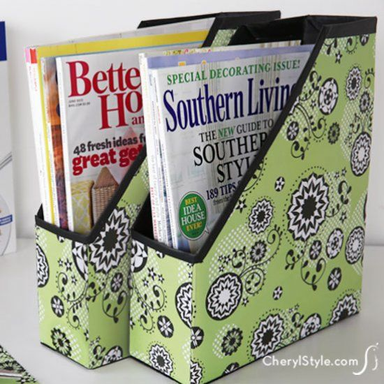 Don't throw away that empty cereal box! Upcycle it into a stylish cereal box organizer for magazines that matches your décor. xxox