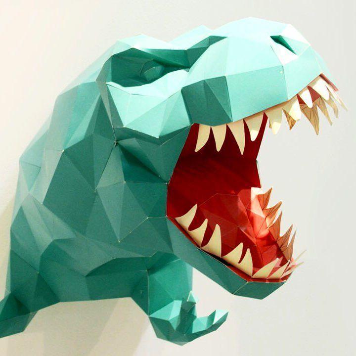 I love paper dino  by @happypaper_kor #dino #dinosaur #homi @homimilano @homismartmilano #paper #happypaper #dinosauro #animals #kids #kidsdecor