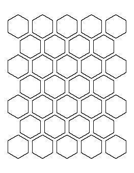 1 5 inch hexagon pattern template pinterest for 1 5 inch hexagon template