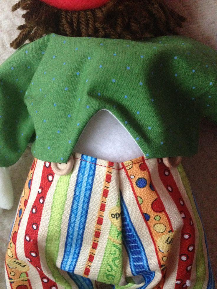 Zöld kabát háta