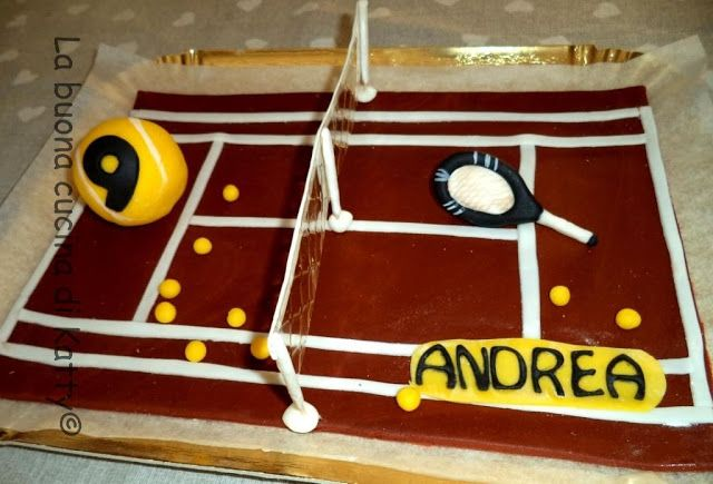La buona cucina di Katty: Torta Campo da tennis - Cake tennis court .... per un compleanno sportivo