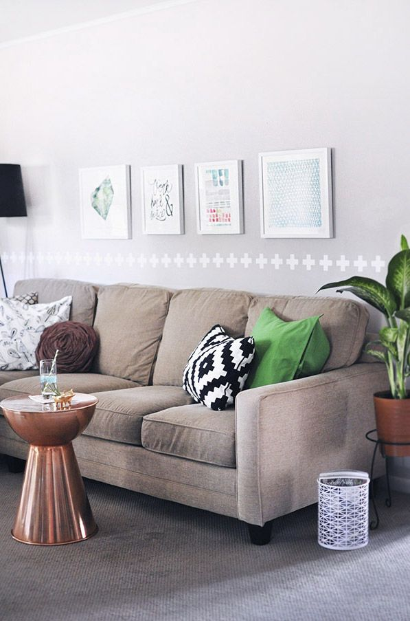How to create a home, even while in a rental house! Easy tips for making an inviting room. Delineateyourdwelling.com