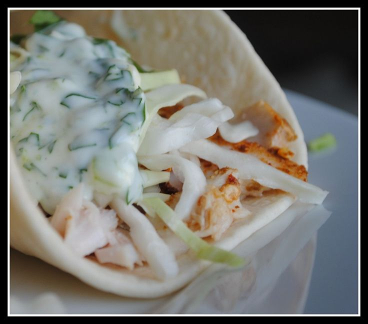 Cilantro and lime fish tacos recipes dishmaps for Crema for fish tacos
