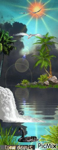 TROPICAL NATURAL  original backgrounds, painting,digital art by tonydanis