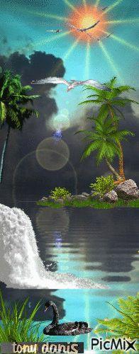 TROPICAL NATURAL  original backgrounds, painting,digital art by tonydanis