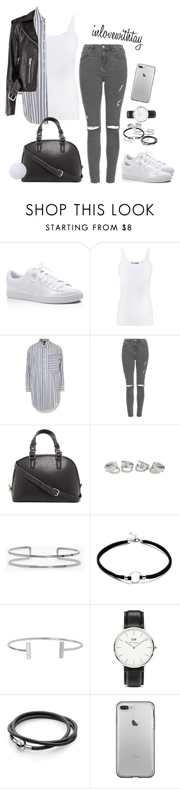 15❤ by inlovewithtay on Polyvore featuring mode, Vince, Topshop, Puma, Forever 21, Daniel Wellington, Boohoo and Humble Chic