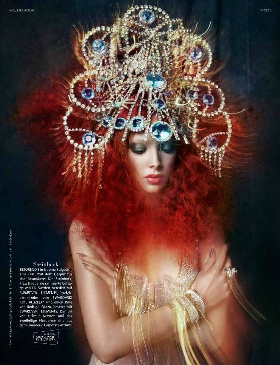 image from German Vogue of Swarovski goddesses created specifically for each sign of the zodiac