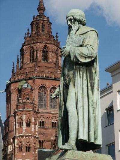 Statue of Gutenberg in Mainz. The Gutenberg Museum in Mainz was fabulous; most memorable