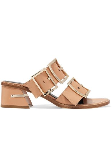 Tibi - Kari Leather Mules - Tan - IT37.5