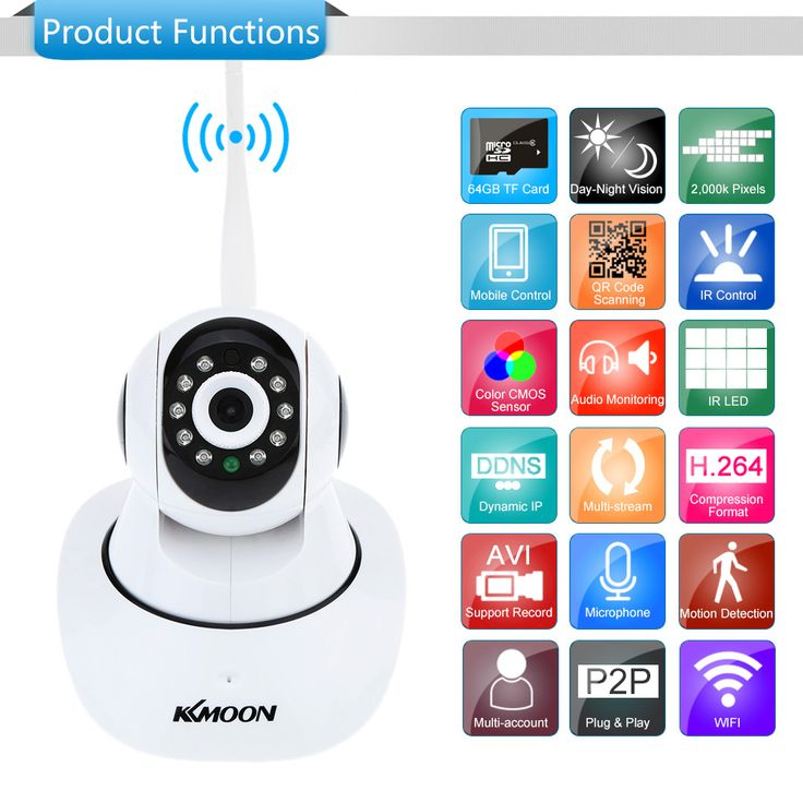 KKmoon® TP-C549T Security 1080P Indoor HD IR Night Vision IP Sales Online eu - Tomtop.com