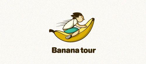 banana tour logo designs